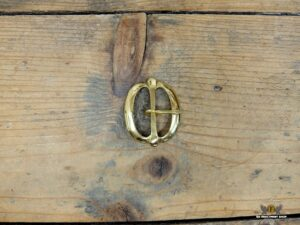 Brass double D buckle
