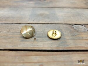 Brass button, slightly domed, 23 mm