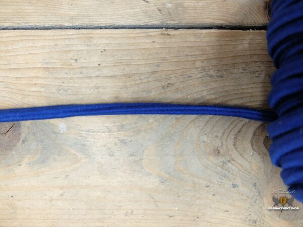 Square cord, blue, 5,5 cm