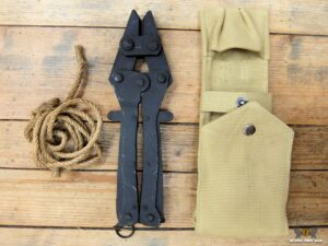 British wire cutter and pouch, used