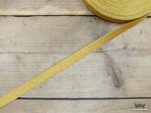 lace gold 20 mm block pattern