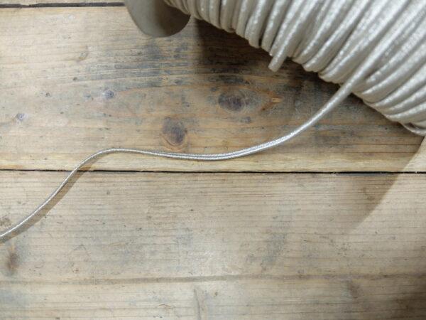 Soutache cord silver 6 mm