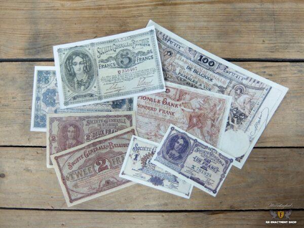 Belgian bank note set